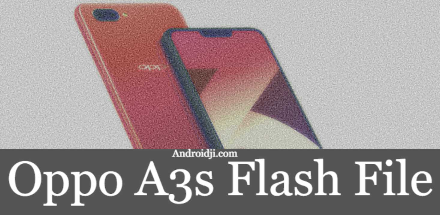 oppo a3s flash file