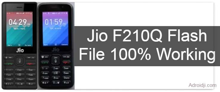 Jio F210Q Flash File