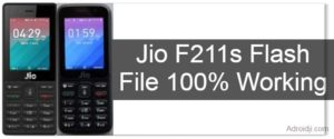 Jio F211s Flash File