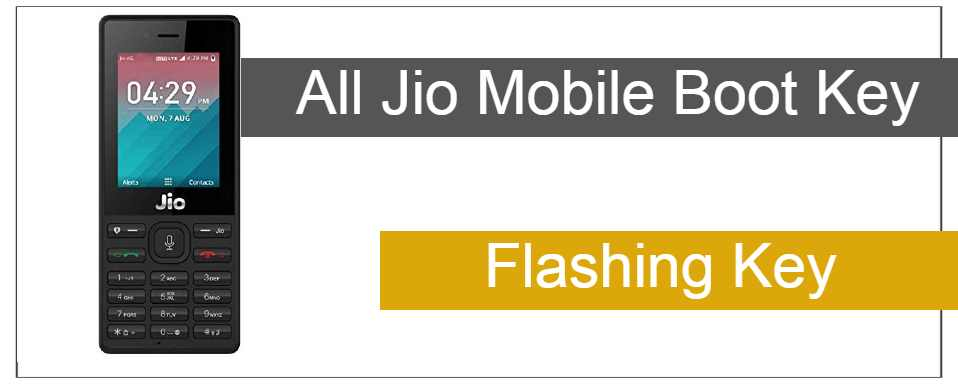 All Jio Boot Key | Jio Keypad Flashing Boot Key