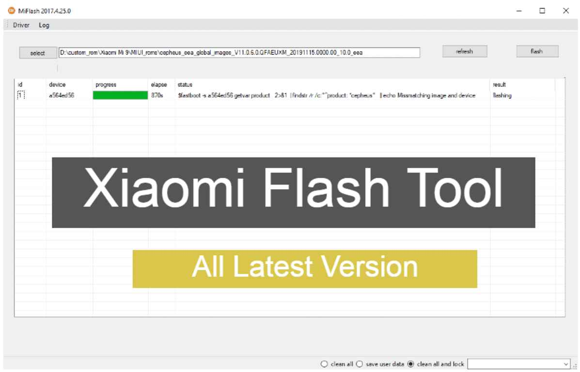 Mi Flash Tool Download [All Version] Official Tool