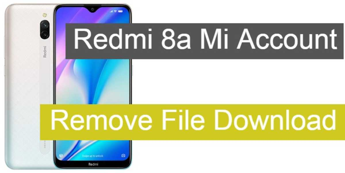 redmi 8a mi account remove